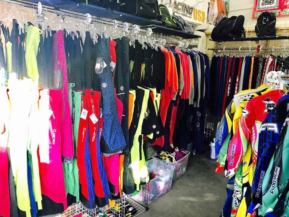 A large selection of race shots and pants from Arctica at the Mt Hood Fuxi Racing 1 Stop Shop.