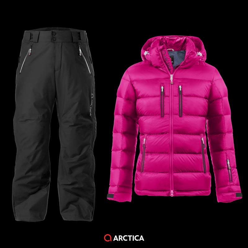Arctica Classic Down Jacket Pink 2.0 Pants Black