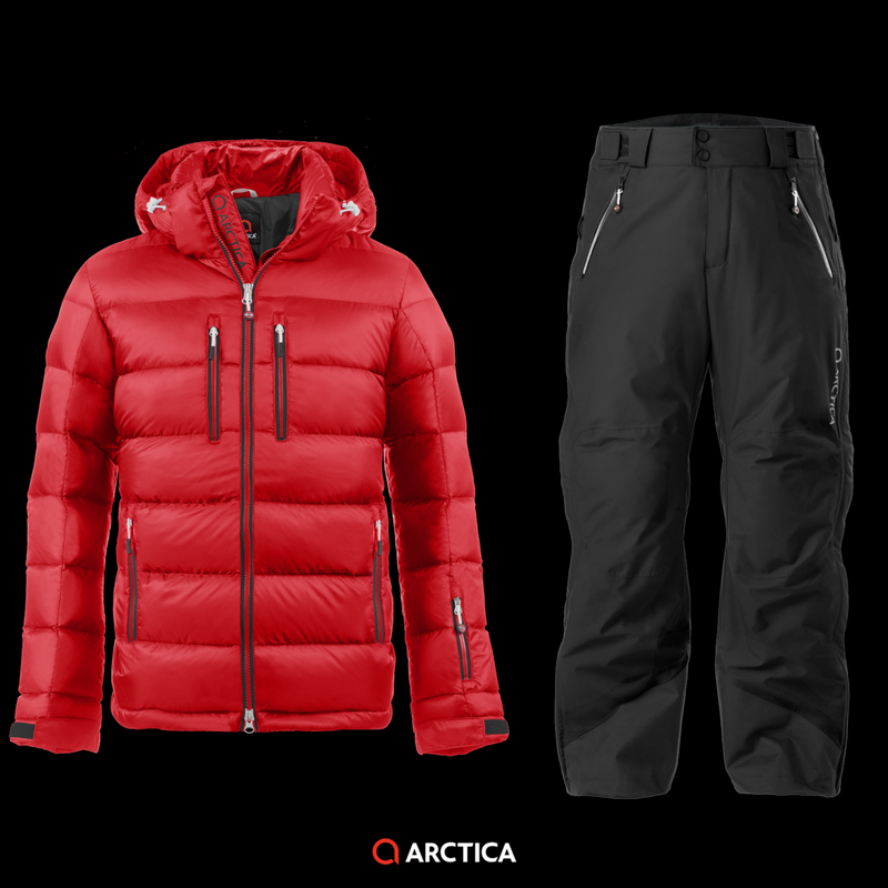Arctica Classic Down Jacket Red 2.0 Pants Black