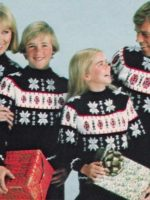 An old family sweater photo from the 1970's.