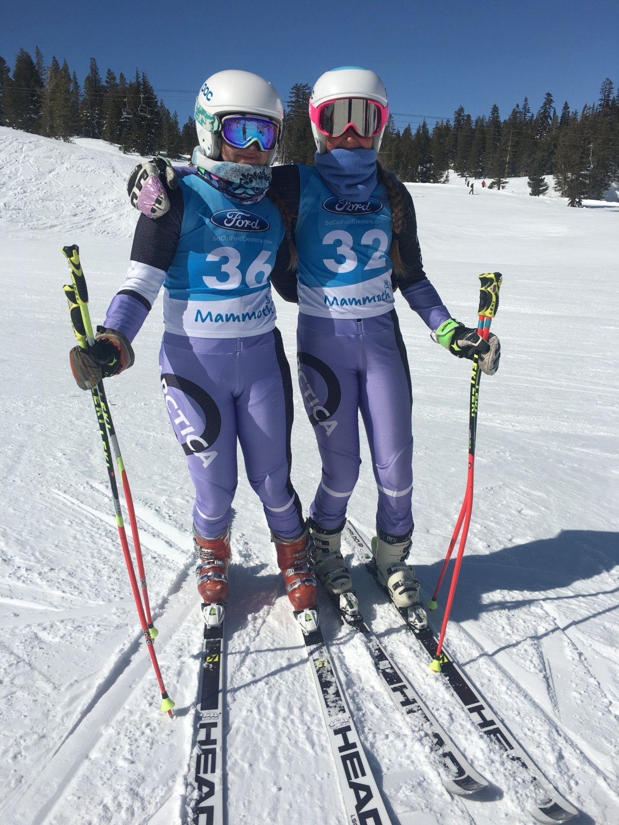 One of our most popular ski racing suits for girls - the Racer GS Speed Suit in Lilac