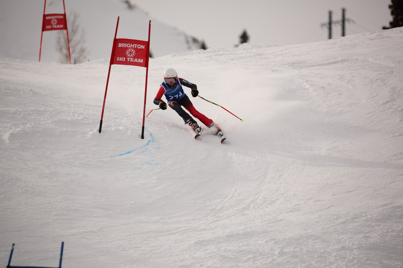 U12 boy Connor Stone in his Cup GS Speed Suit from Arctica