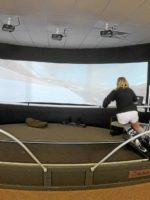 Vertical Drop Ski Shop Ski Simulator in use