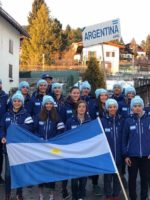 Argentinian U14 and U16 Ski Club members in their Arctica Team Jackets at a ski race in Topolino