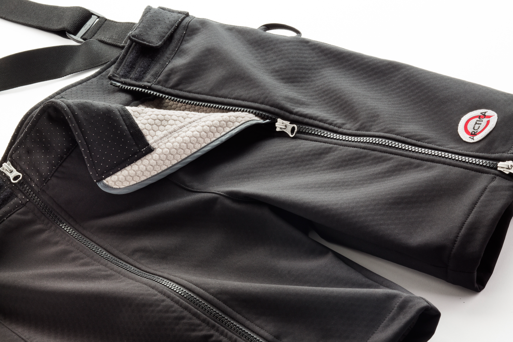 The Arctica Black Kat Training Shorts featuring our proprietary Flexshell softshell fabric