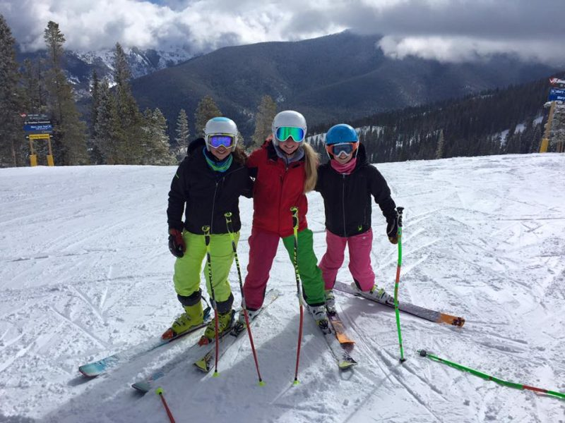 3 Ski racer girls who love their Arctica side zip pants.