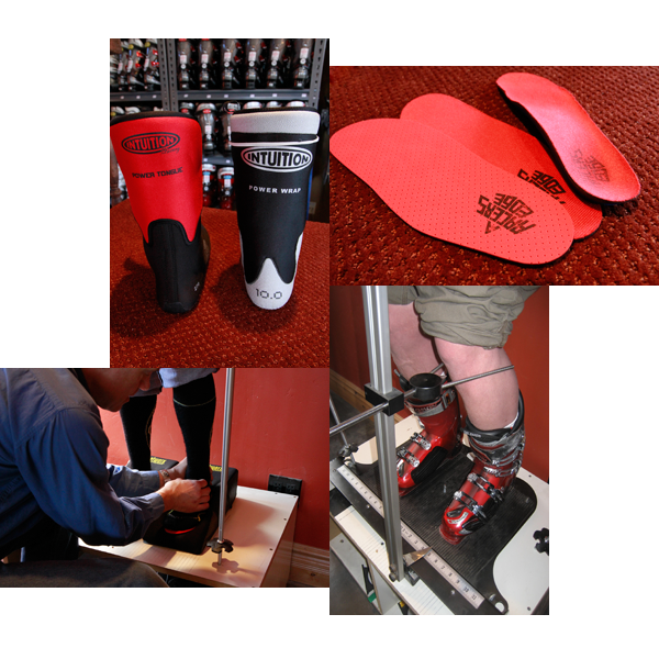 Custom boot fitting is the specialty at the race ski shop in Breckenridge, A Racer's Edge.