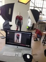 Behind the scenes at a product photo shoot for Arctica.