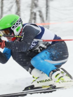 Petoskey High School ski team racer Ethan Siegwart. Photo Credit: Petoskey News Review