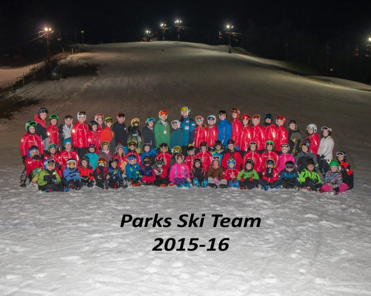Parks Ski Team in their Arctica ski team jackets