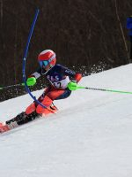 Pico Ski Club racer Dylan Rousell racing in his Arctica USA GS Speed Suit on his way to Easterns.