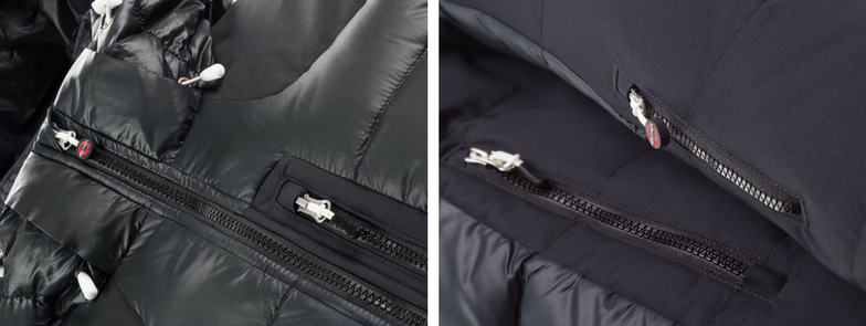 Besides being warm, the Arctica Pinnacle Down Training Jacket has lots of pockets.