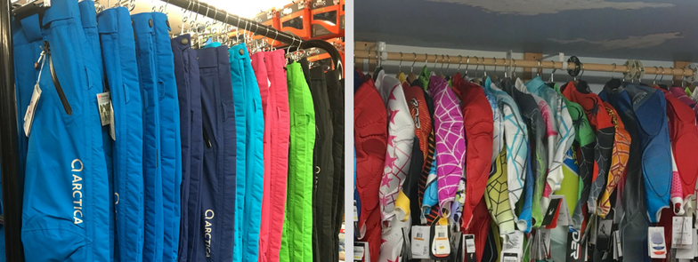 Totem Pole Ski Shop has the largest selection of Arctica race pants and ski race suits in Ludlow VT.